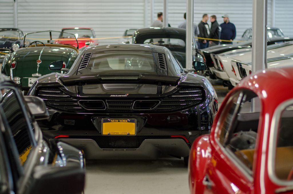 McLaren in garage