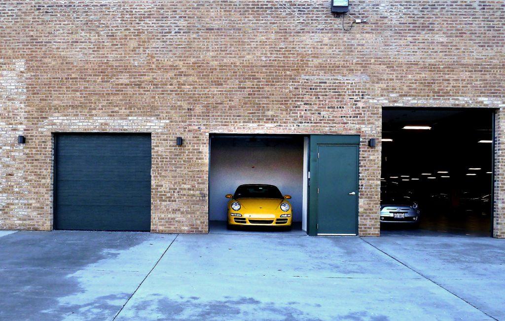 Exterior Garage Stalls